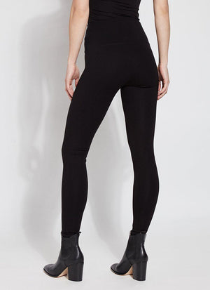 Lysse Ponte Signature Center Seam Legging, Black