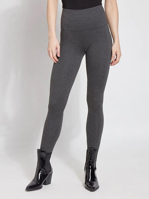 Lysse Ponte Signature Center Seam Legging, Charcoal - Statement Boutique