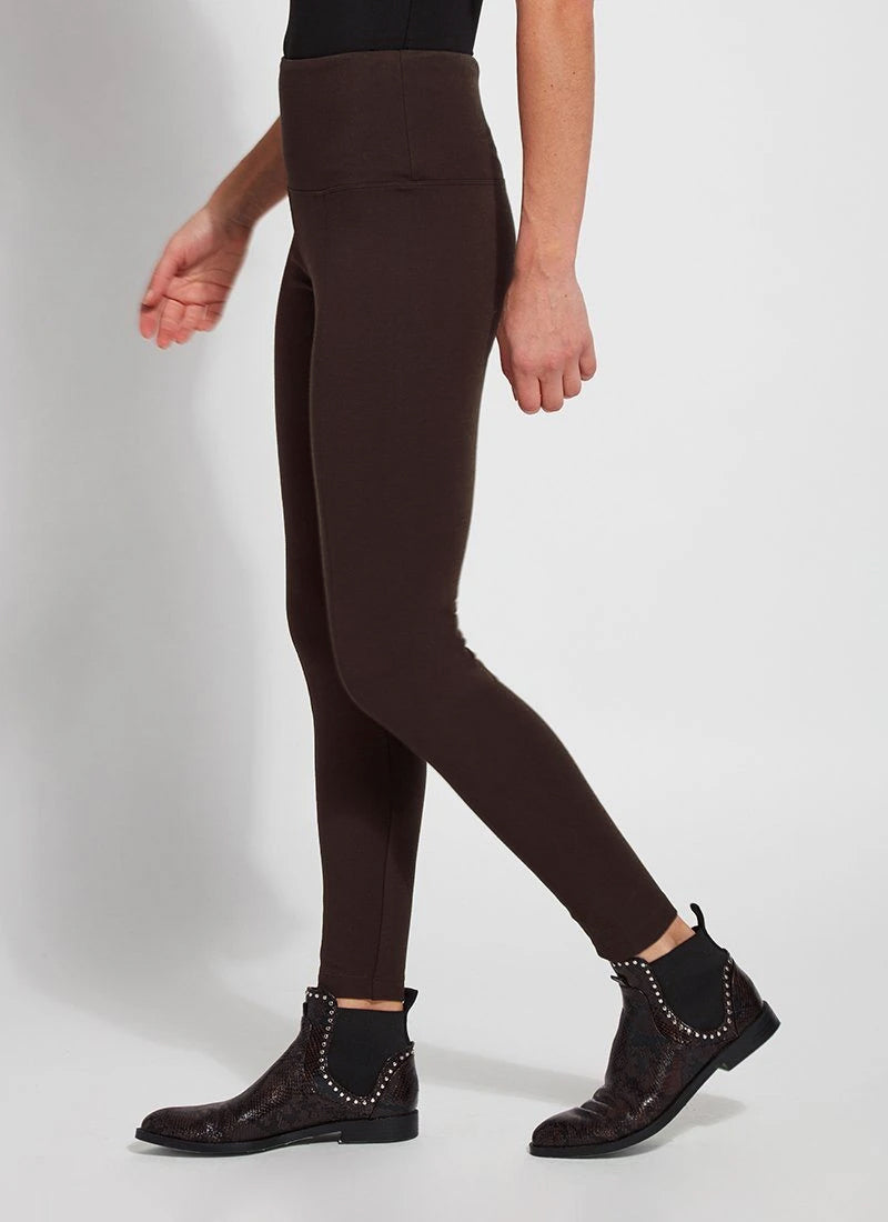 Lysse Ponte Signature Center Seam Legging, Double Espresso