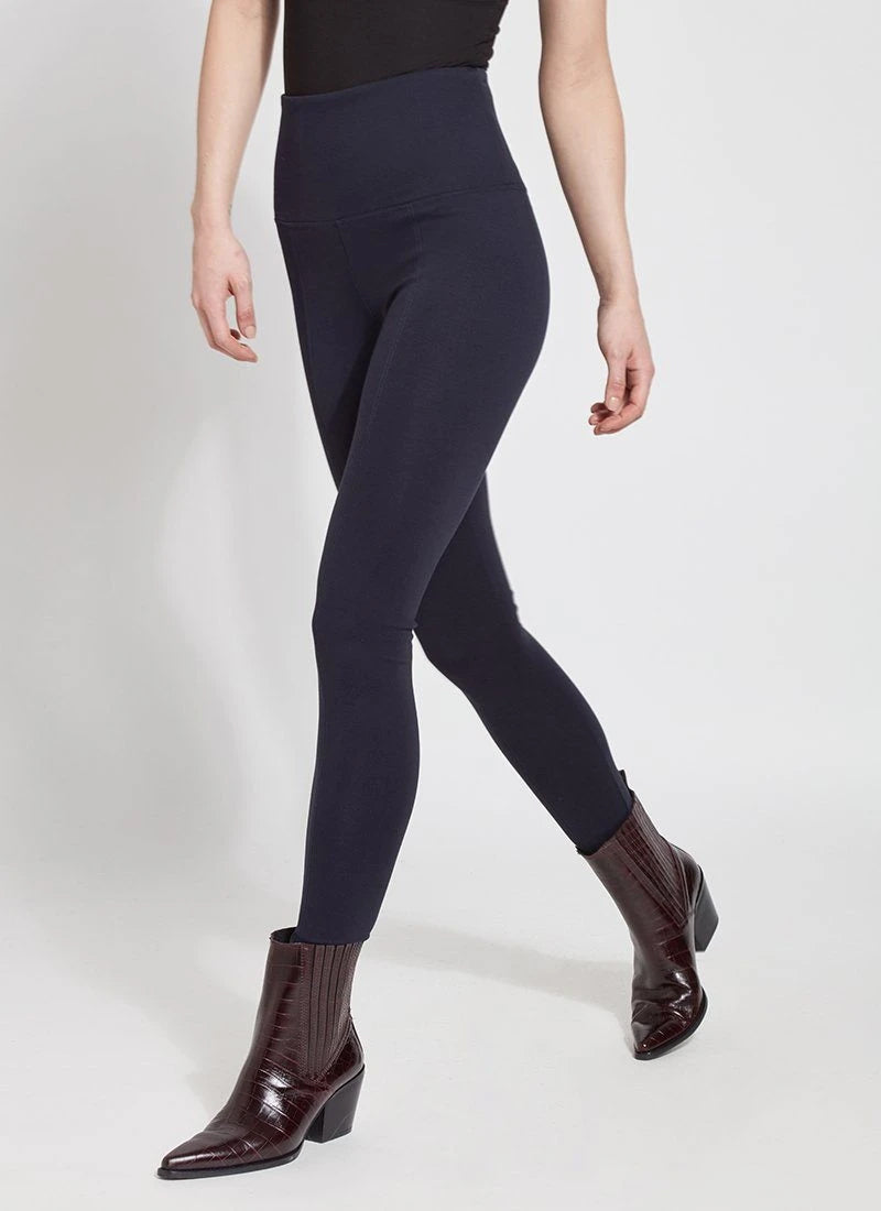 Ponte Signature Center Seam Legging, Midnight