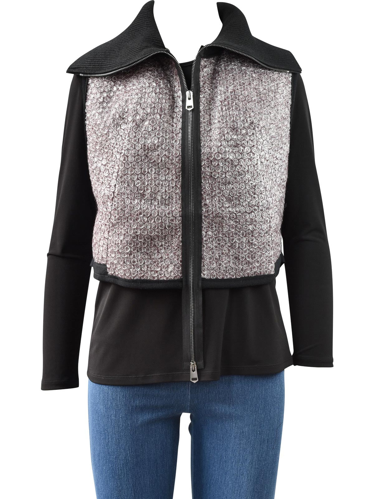 NY77 Short Zip Vest, Bubble Wrap