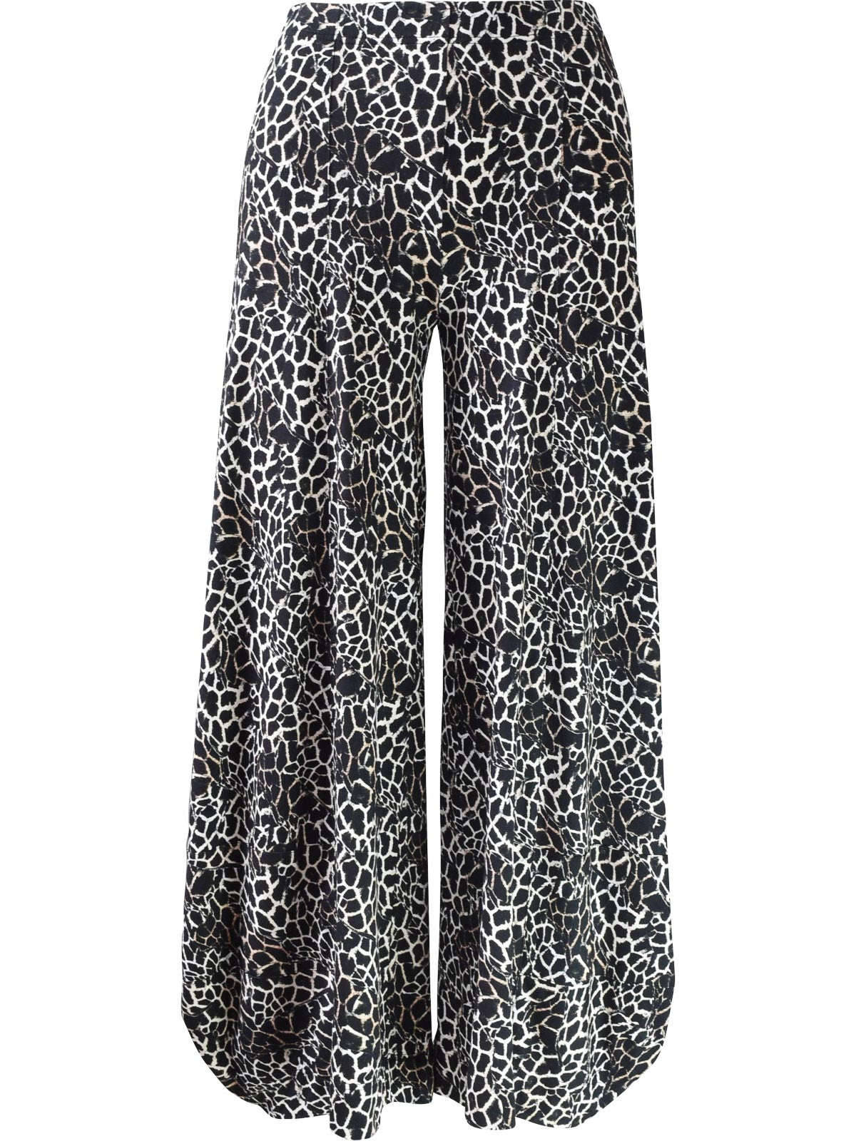 Q'Neel Crackle Print Lantern Pant, Black/Tan