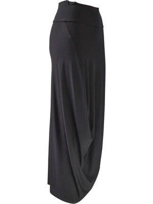 Q'Neel Drape Side Skirt, Black