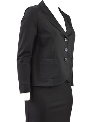 Q'Neel Ponte Pocket Blazer, Black