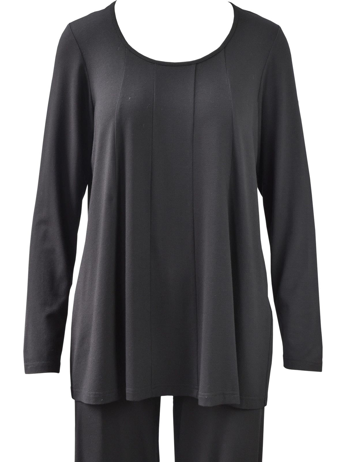 Q'Neel Seam Front Top Long Sleeve, Black