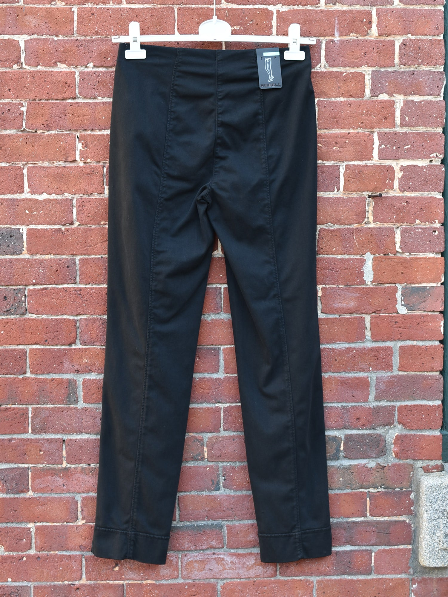 Robell Marie Garment Dyed Pant - Black - Statement Boutique