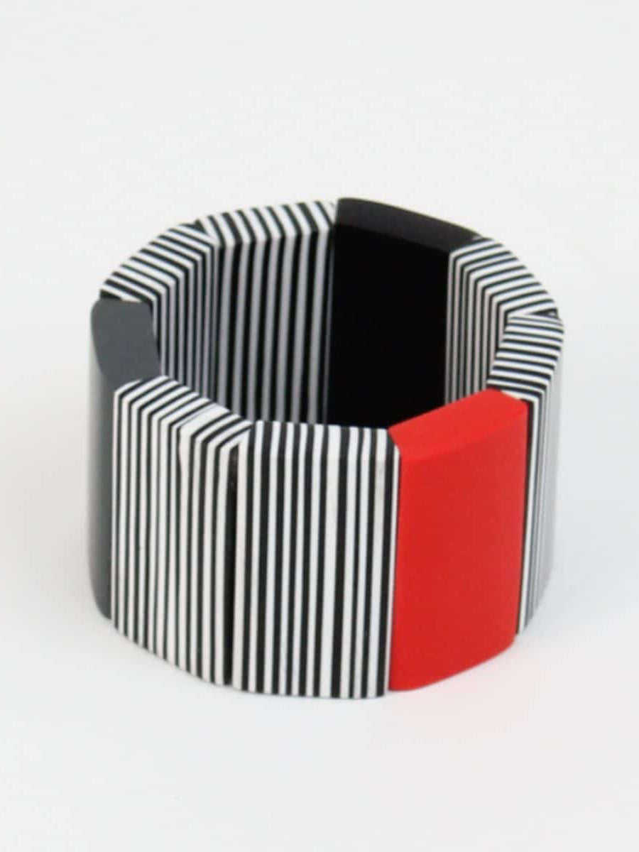 Sylca Designs Alice Cuff Bracelet, Red - Statement Boutique