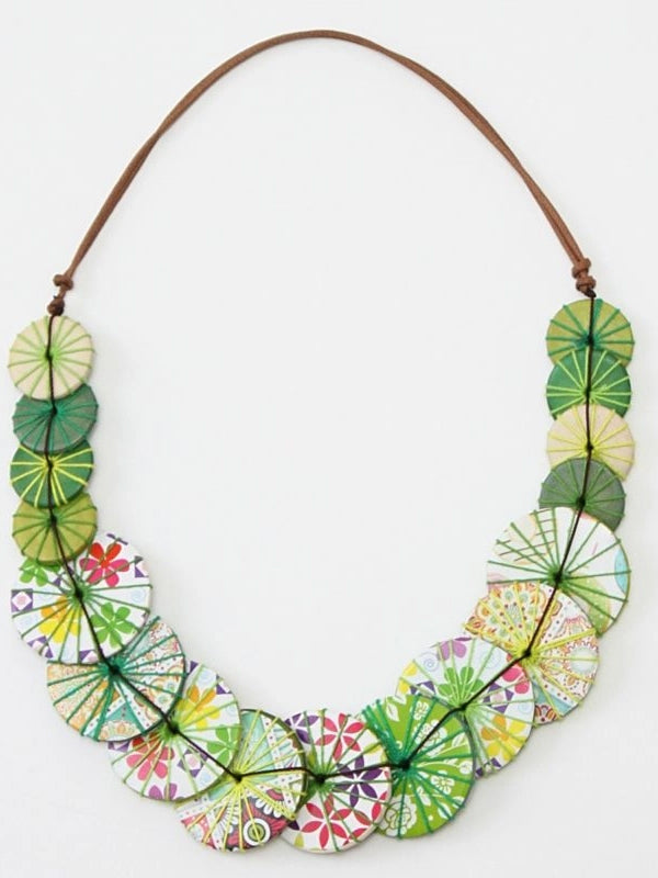 Sylca Designs Azalea Necklace, Apple Multi - Statement Boutique