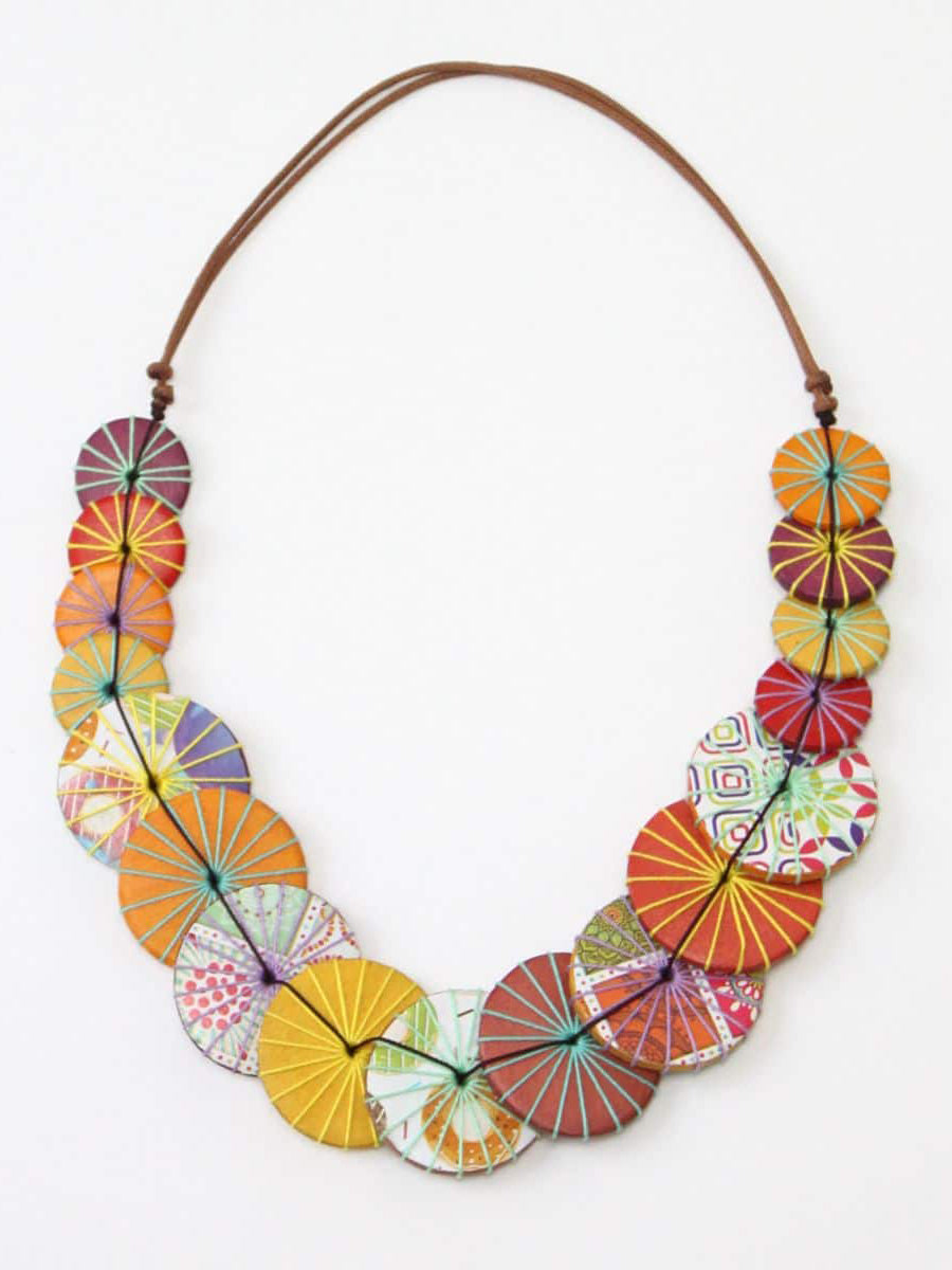 Sylca Designs Azalea Necklace, Honey Multi - Statement Boutique