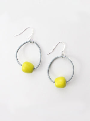 Sylca Designs Brooklyn Loop Earrings, Lime - Statement Boutique