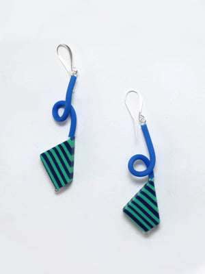 Sylca Designs Camila Earrings, Turquoise/Blue - Statement Boutique