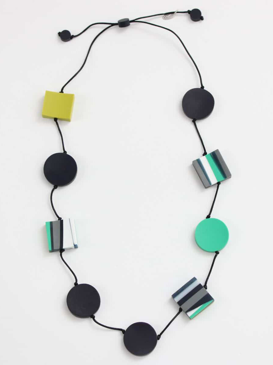 Sylca Designs Chloe Necklace, Lime/Ocean - Statement Boutique