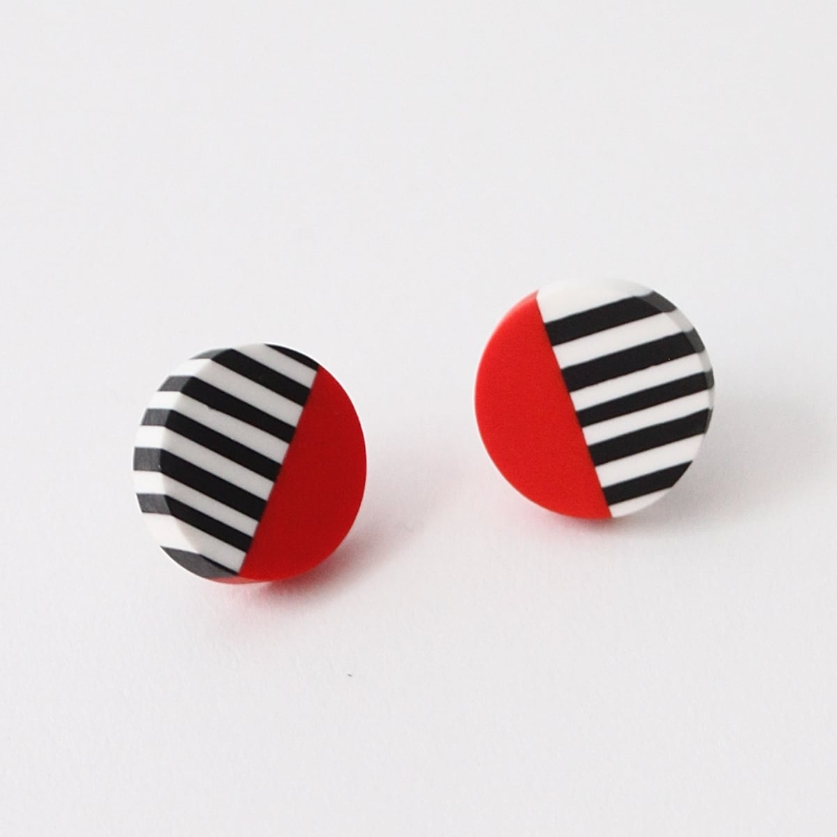 Sylca Designs Chloe Stud Earrings, Red - Statement Boutique