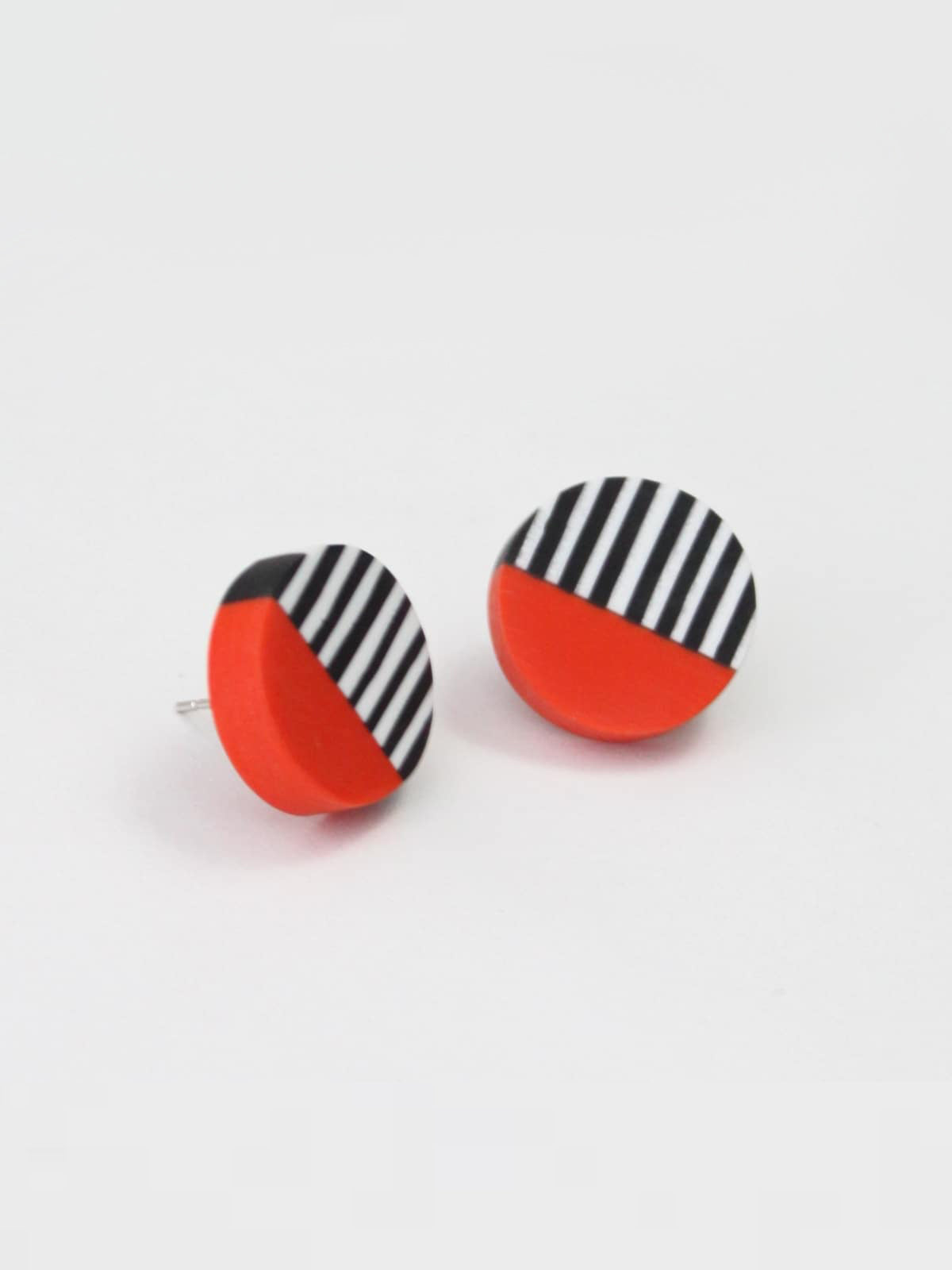 Sylca Designs Chloe Stud Earrings, Fire - Statement Boutique