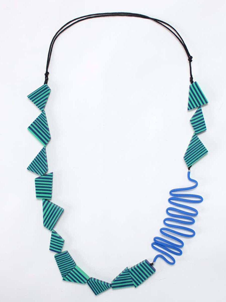 Sylca Designs Frida Necklace, Turquoise/Blue - Statement Boutique