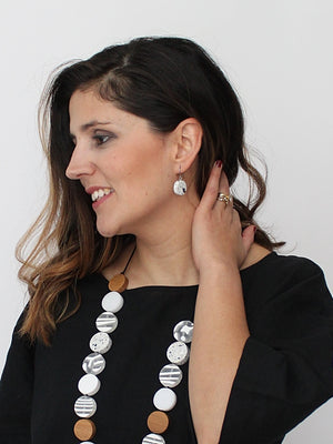Sylca Designs Sophie Earrings, White - Statement Boutique