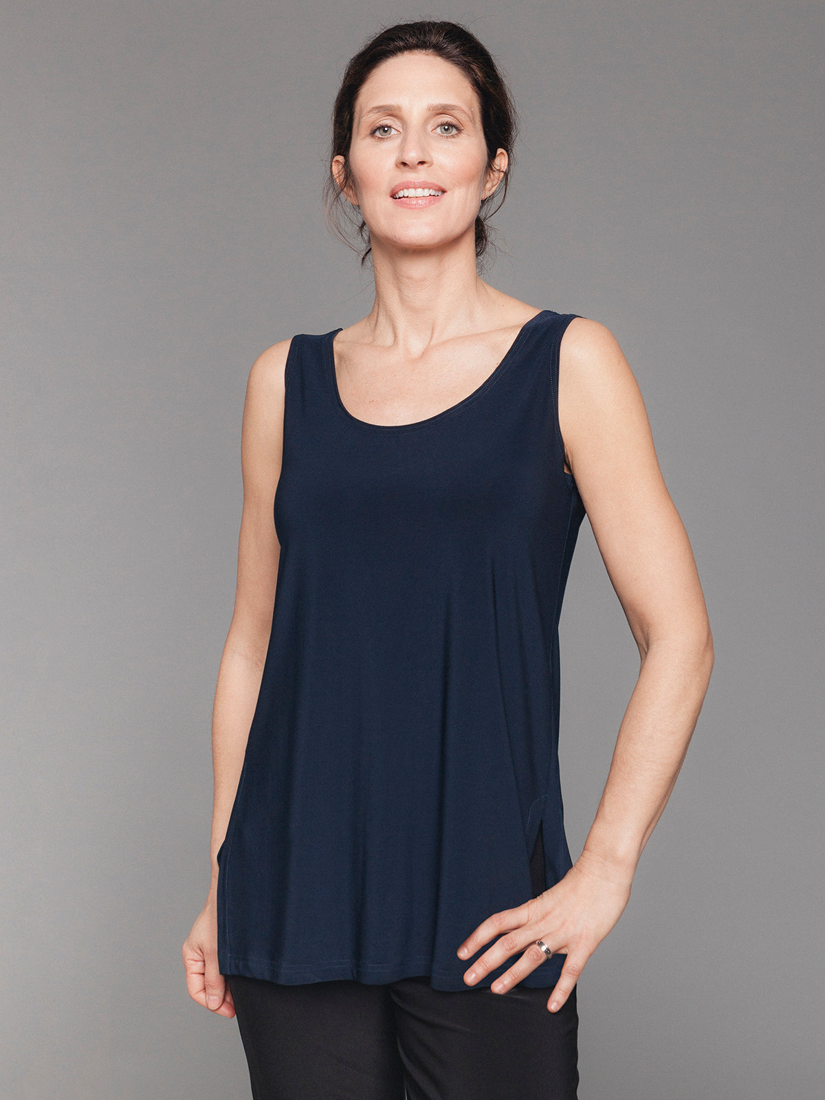 Sympli Go To Tank Relax - Navy - Statement Boutique