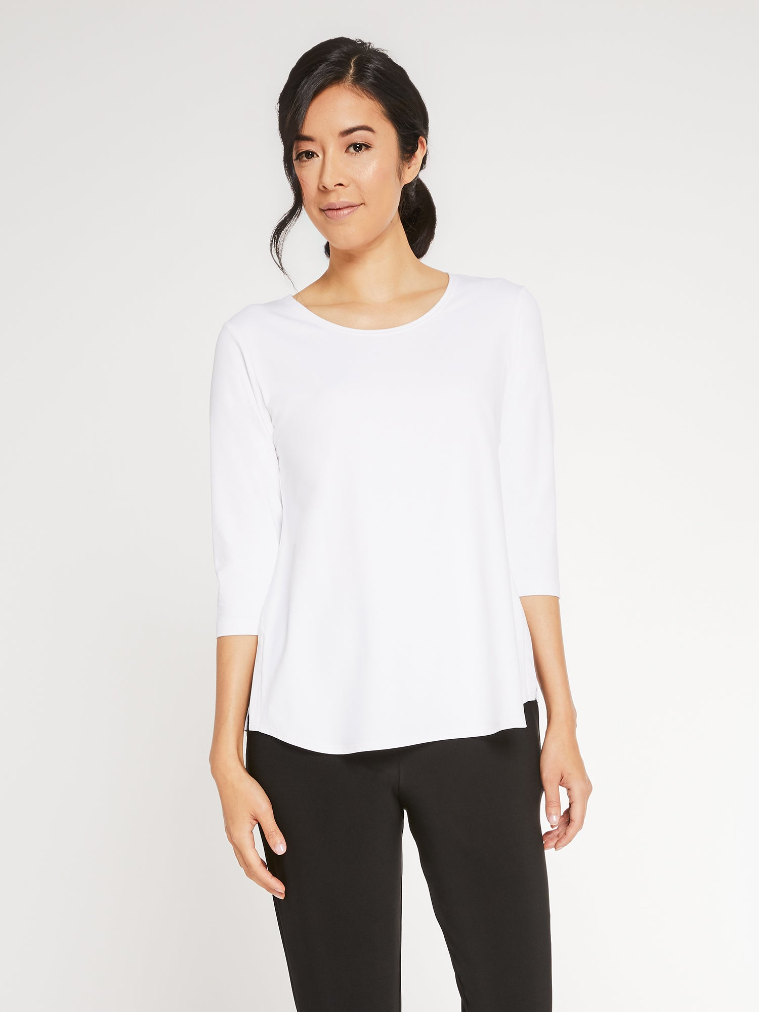 Sympli Go To Classic T Relax 3/4 Sleeve - White - Statement Boutique