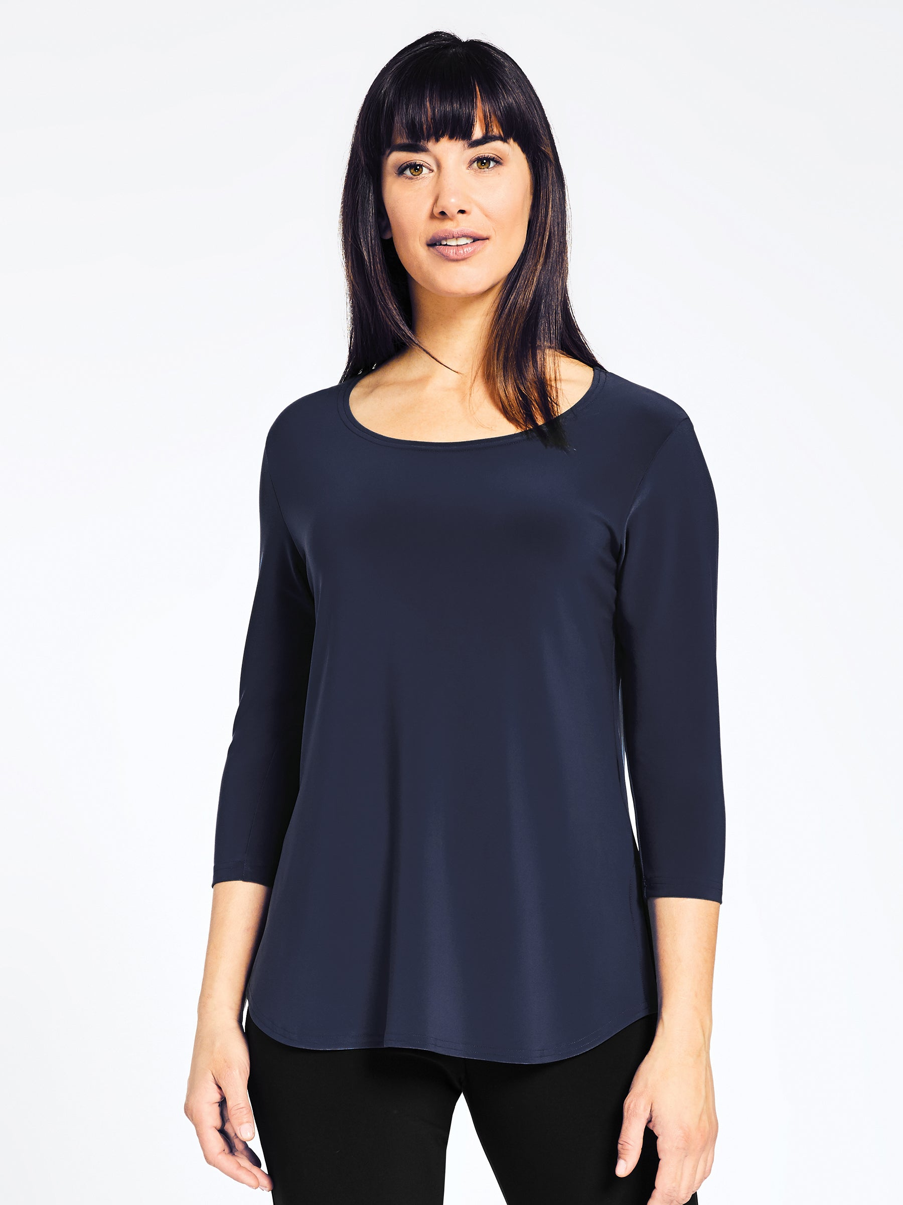 Sympli Go To Classic T Relax 3/4 Sleeve - Navy - Statement Boutique