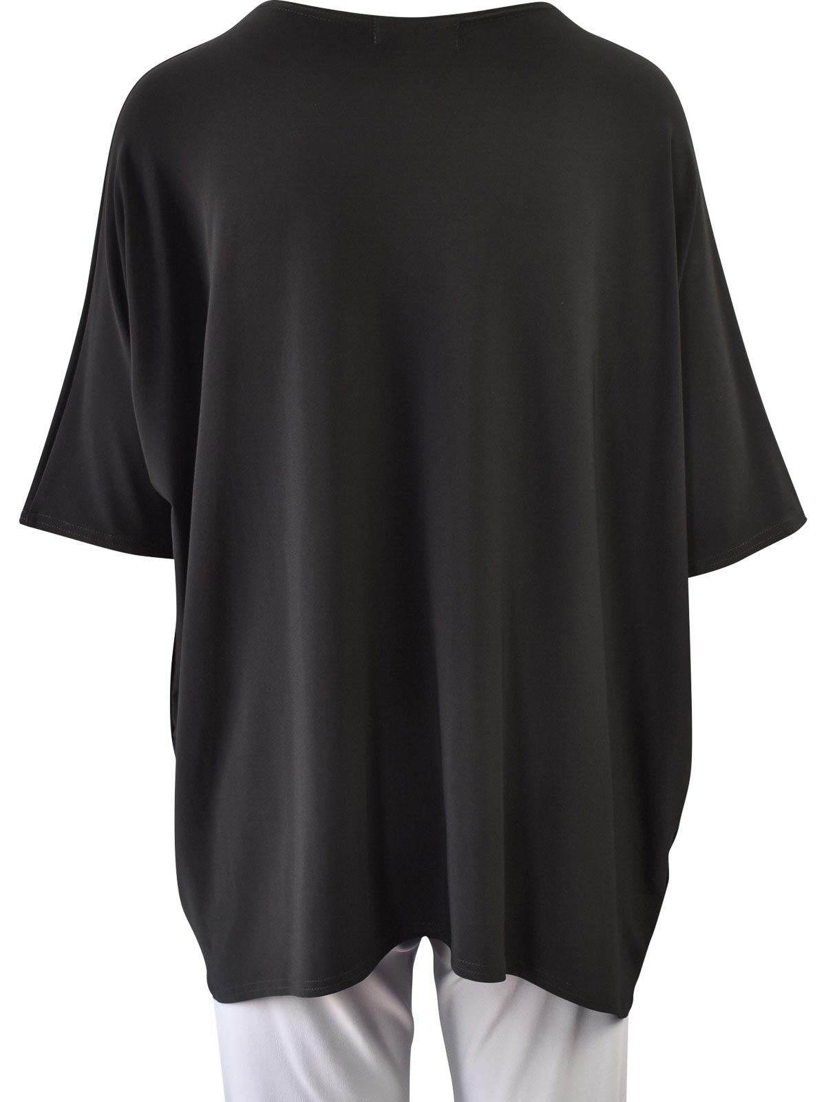 Sympli Lounge Top, Black - Statement Boutique