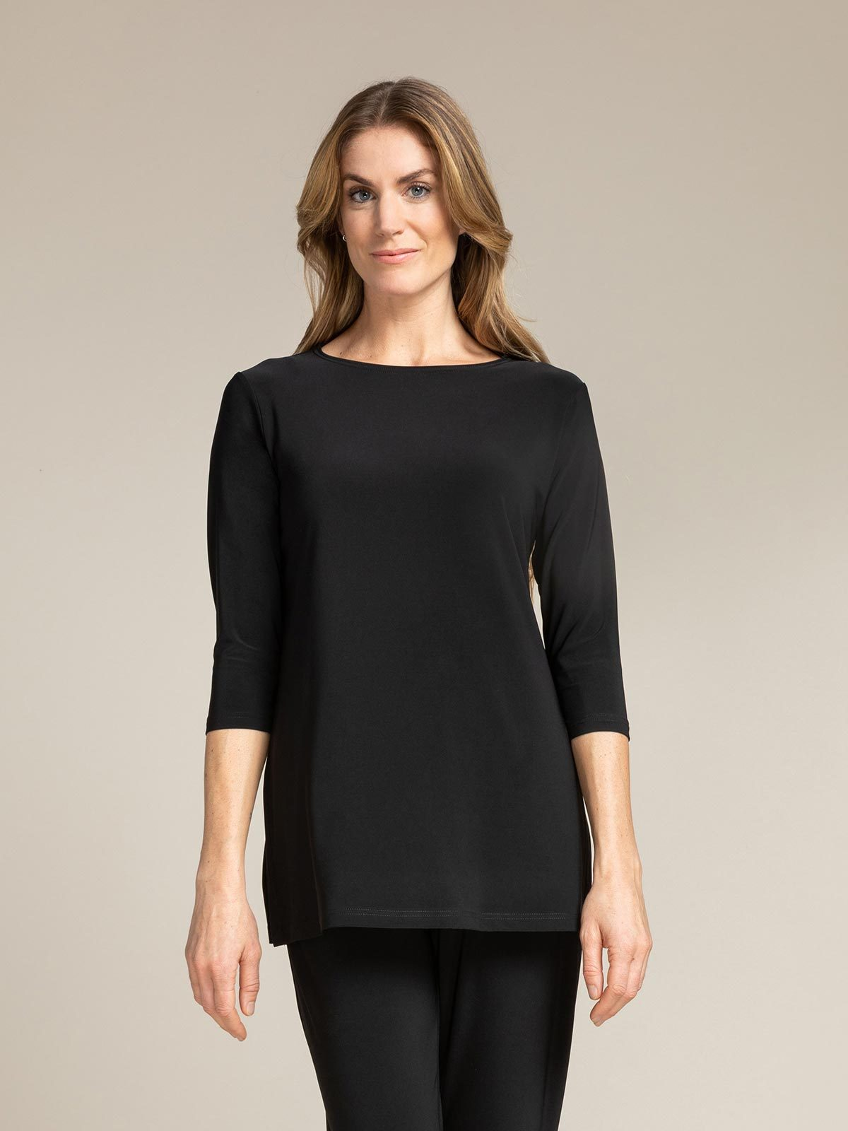 Sympli - Nu Ideal Tunic 3/4 Sleeve - Black