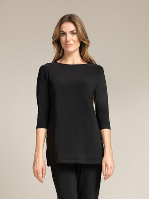 Sympli Nu Ideal Tunic 3/4 Sleeve - Black - Statement Boutique