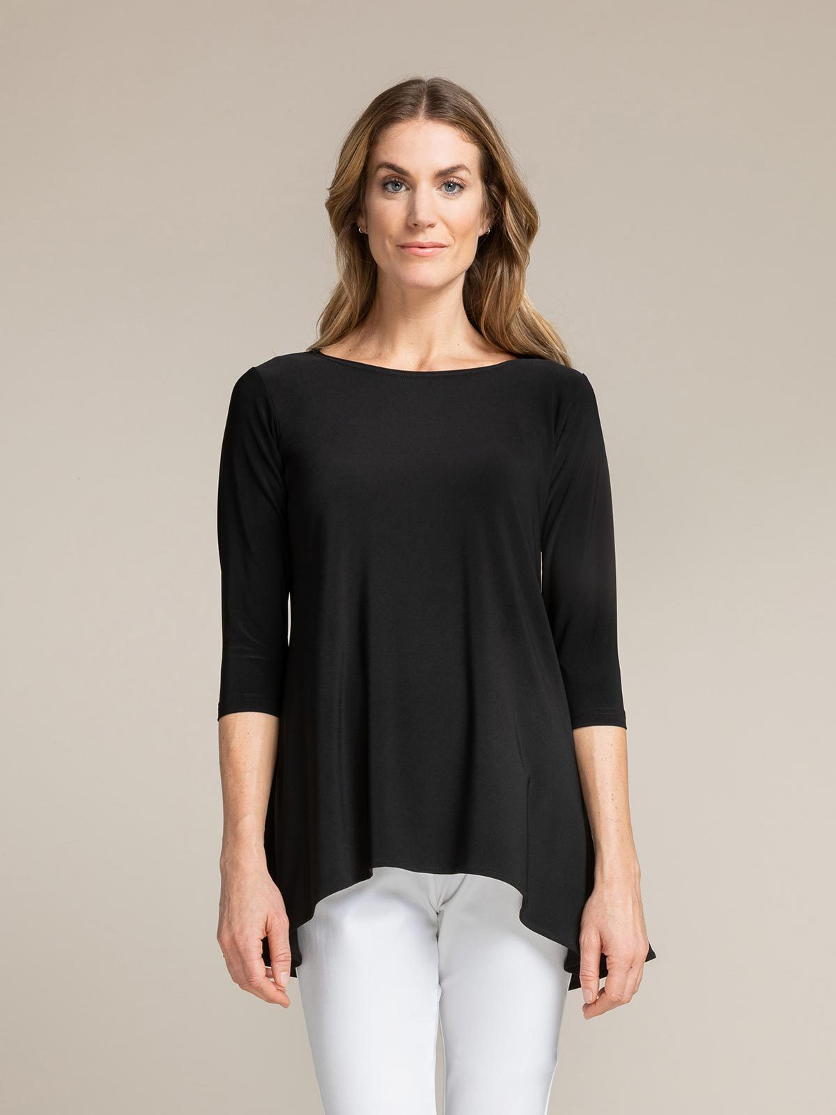 Sympli - True T 3/4 Sleeve - Black