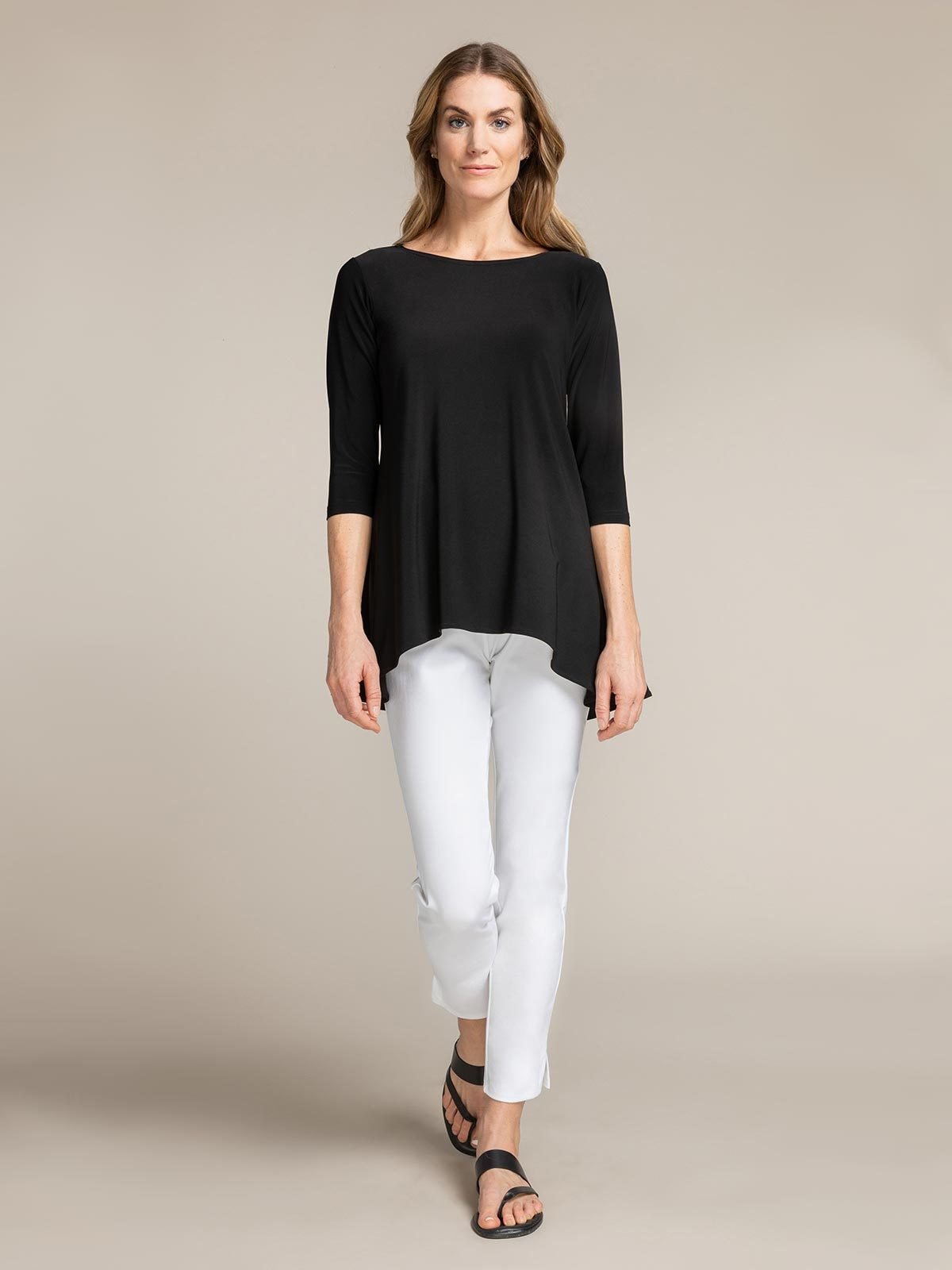 Sympli True T 3/4 Sleeve - Black - Statement Boutique
