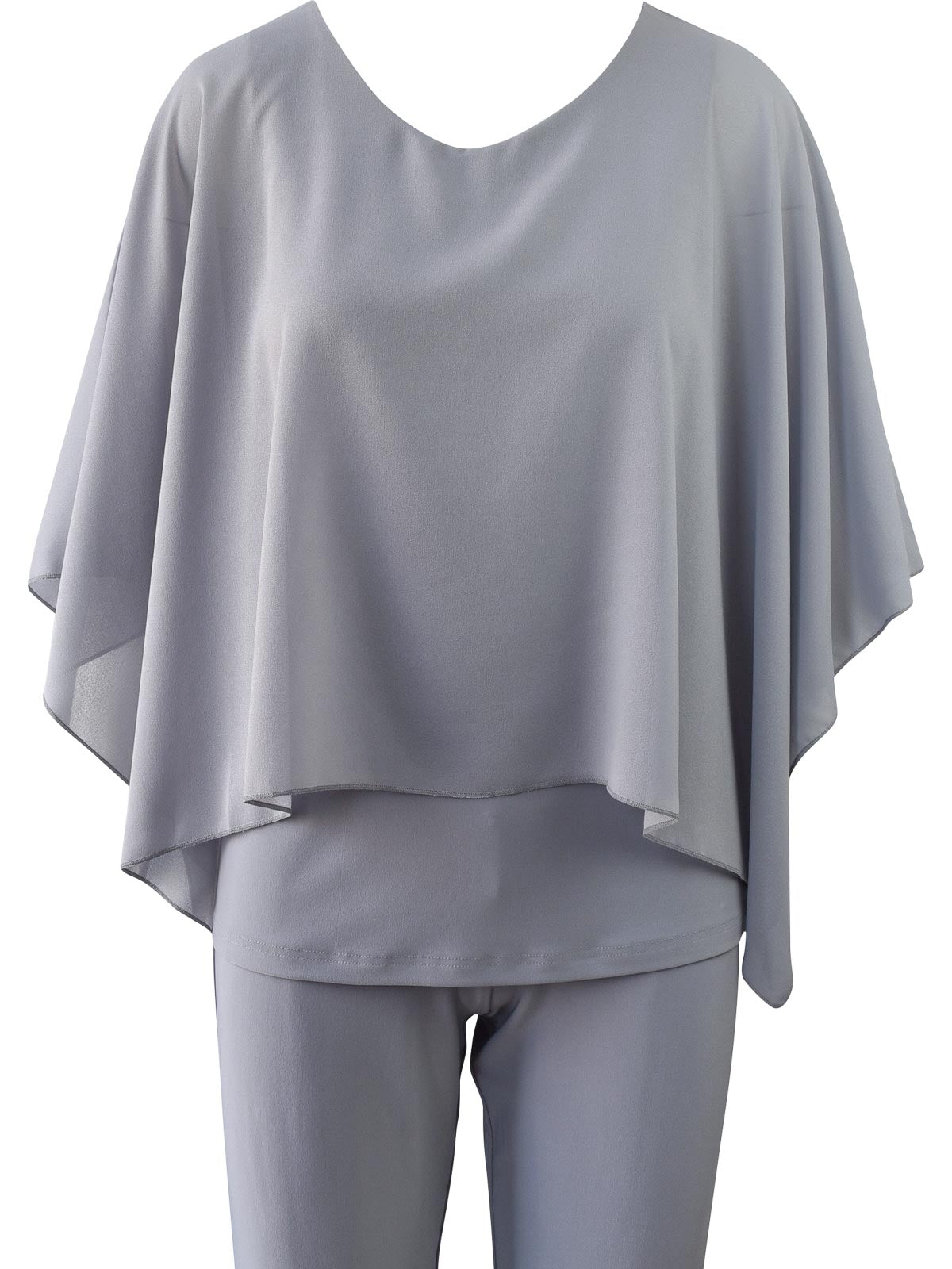 Sympli Whisper Boxy Top, Silver - Statement Boutique