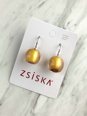 Zsiska - Colorfulbeads Small Drop Earrings - Gold