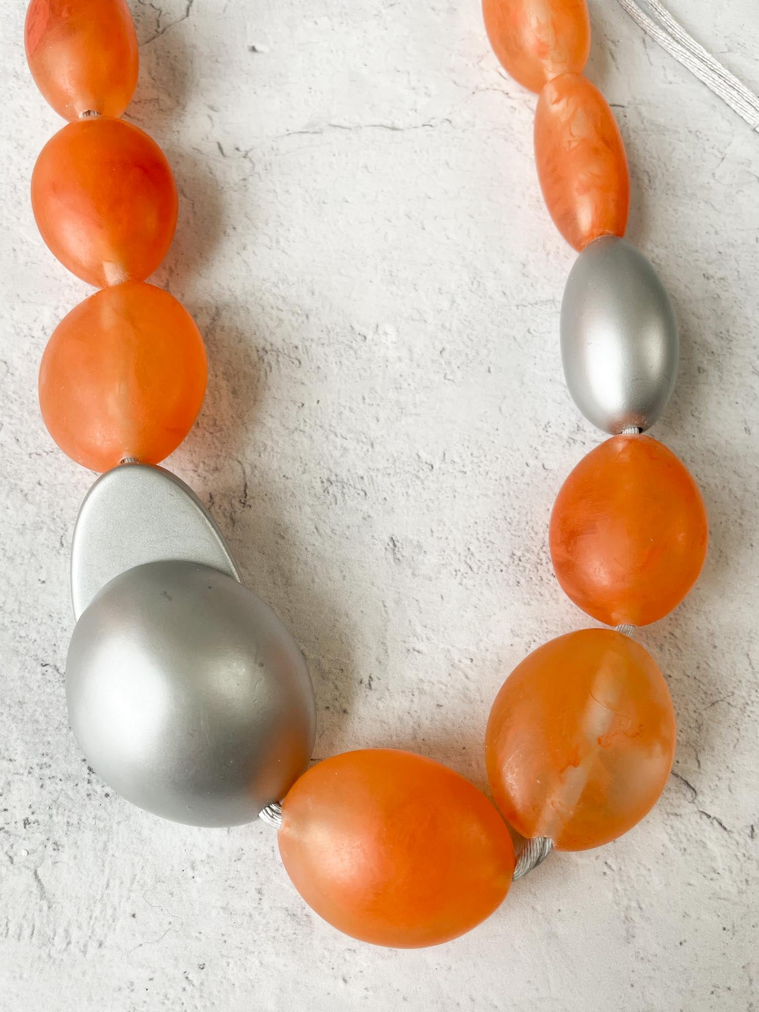 Zsiska Isla 11 Bead Necklace, Orange