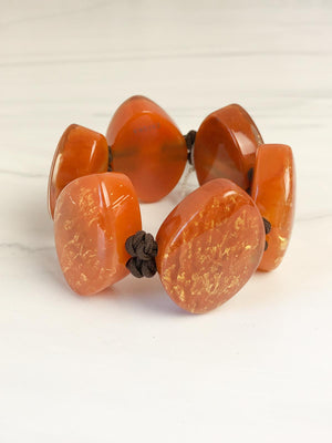 Zsiska Rhea Bracelet, Orange - Statement Boutique