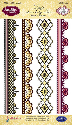 Classic Lace Edges One Clear Stamps