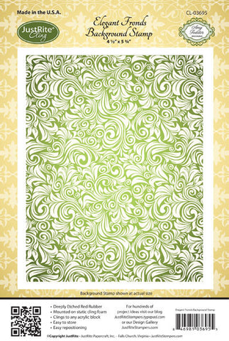 Elegant Fronds Background Stamp
