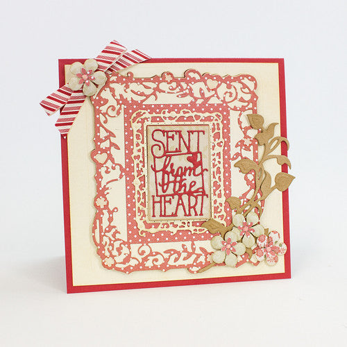 Tonic Studios INDULGENCE DIE & STAMP SET – SENT FROM THE HEART – 1039E