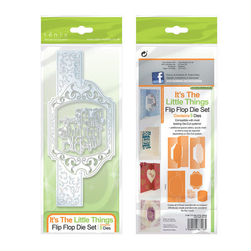 Tonic Studios FLIP FLOP DIE SET – IT'S THE LITTLE THINGS – 1118E