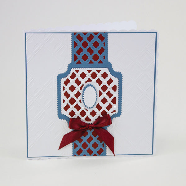 Tonic Studios - IDYLICS EMBOSSING FOLDER & DIE SET DIAMOND TRELLIS