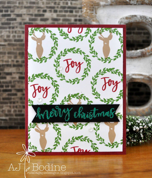 JustRite Merry Christmas Sentiments Two Clear Stamp