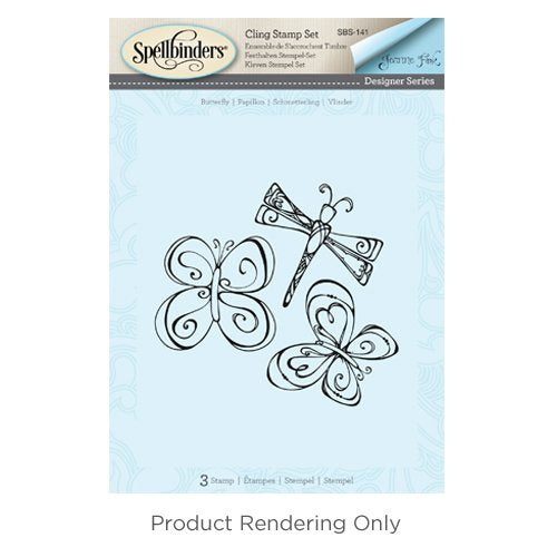 Spellbinders SBS-141 Butterfly Bible Journaling Stamp Set
