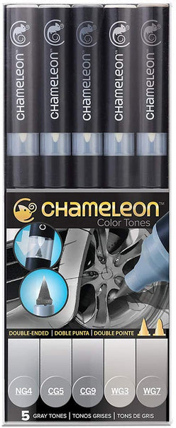 Chameleon Color Tone 5 Marker Set Gray Tones