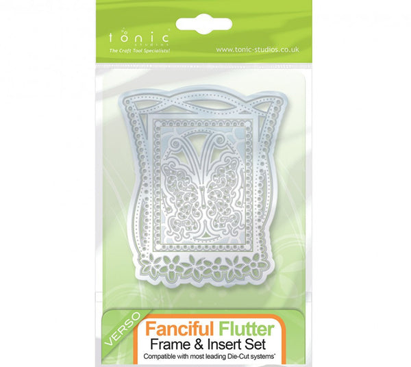Tonic 636e Fanciful Flutter Keepsake Frame & Insert Die Set