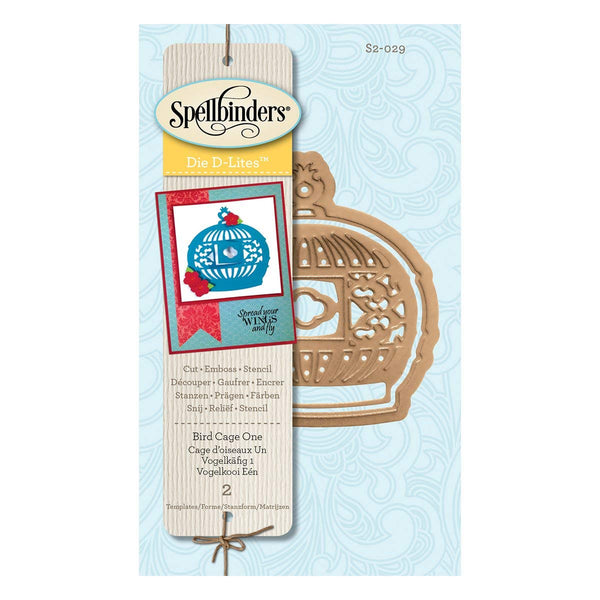 Spellbinders S2-029 Die D-Lites Bird Cage One Etched/Wafer Thin Dies
