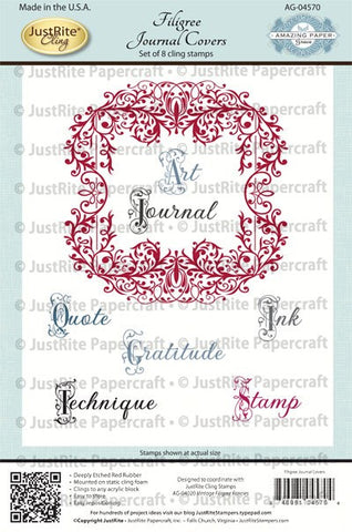 Filigree Journal Covers Cling Stamps