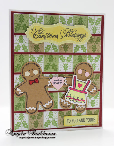 Appliqu̩e Christmas Labels One Clear Stamps
