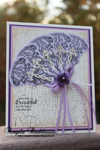 Crackle Cling Background Stamp