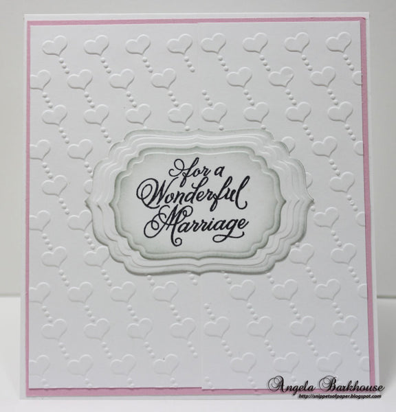 Justrite Papercraft Grand Wedding Wishes Clear Stamps
