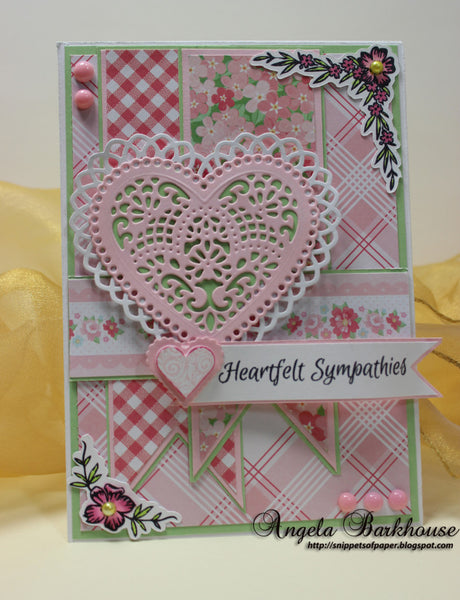 Sympathy Vintage Labels Eight Clear Stamps