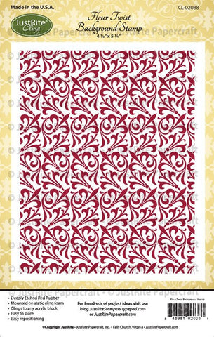 Fleur Twist Cling Background Stamp