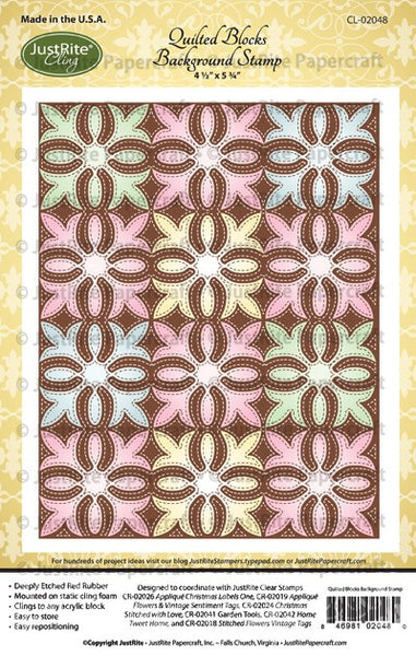 Quilted Blocks Cling Background Stamp