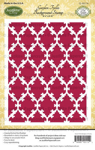 Garden Trellis Cling Background Stamp